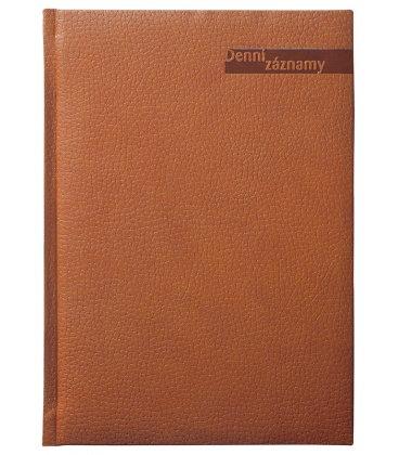 Diary A5 Daily Notes Denní záznamy A5 brown 2020