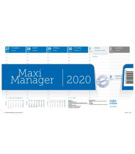 Table calendar Maximanager modrý 2020