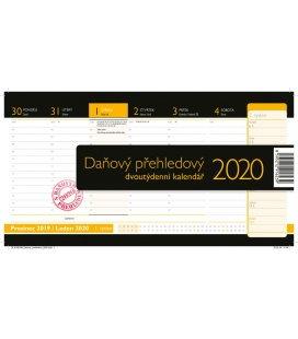 Table calendar Daňový přehledový 2020