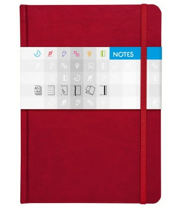 Notepad A5 Saturn lined red 2020