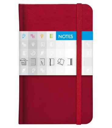 Notepad pocket Saturn lined red 2020