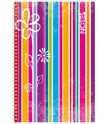 Notepad A4 with spiral Stripes - lined 2020