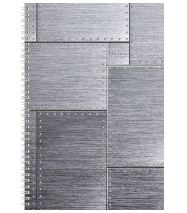 Notepad A4 with spiral Steel - squared 2020