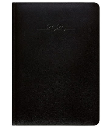 Leather diary A5 daily Carus black SK 2020