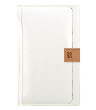 Weekly Pocket Diary Nody white, brown SK 2020