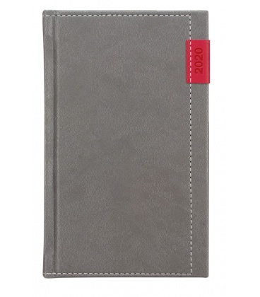 Weekly Pocket Diary Joy grey, red SK 2020