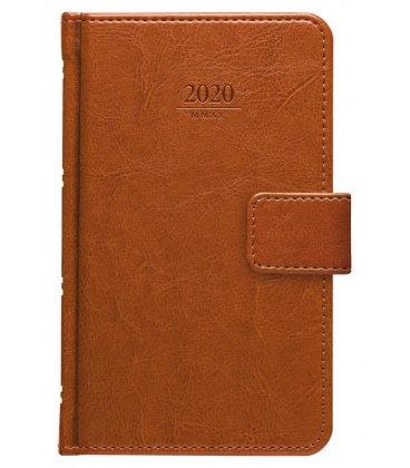 Weekly Pocket Diary Kastor s poutkem brown SK 2020