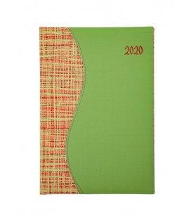"""Weekly Diary B5 """"SIGMA"""" Balacron/Balacron green, orange 2020"""