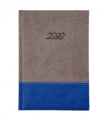 """Daily Diary A5 721 """"DUO"""" Vivella/Griffe(Diamant) grey, blue 2020"""