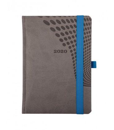 "Daily Diary A5 721 ""ELASTIC"" Vivella grey, blue 2020"