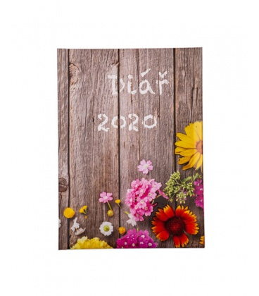 "Daily Diary B6 tištěný a laminovaný potah ""Plot"" 2020"