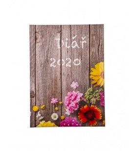 "Weekly Diary B6 tištěný a laminovaný potah ""Plot"" 2020"