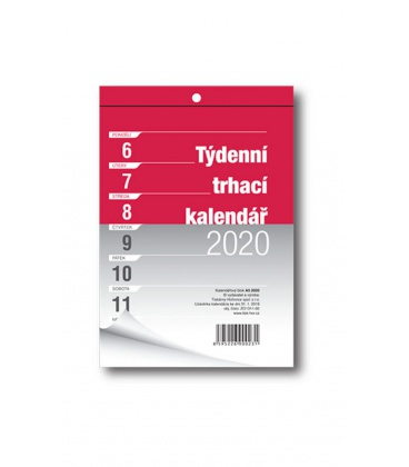 Wall calendar notepad A5 week  2020