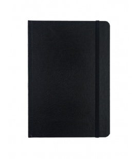 Notepad with rubber band A5 Balacron black 2020