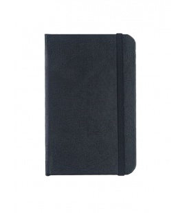 Notepad with rubber band A6 Balacron black 2020