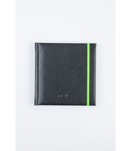 Notepad 4Q with ribber band Memory black, green 2020