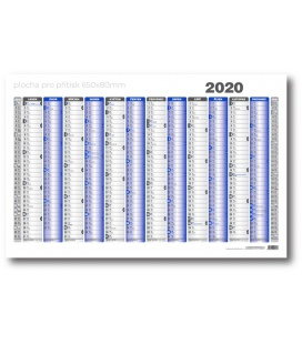 Wall calendar map A1 annual list formátu 990x678 mm, blue, grey 2020