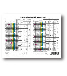 Table calendar Yearly Planing Card   2020