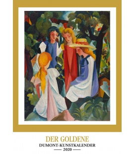 Wall calendar Goldener Kunstkalender 2020