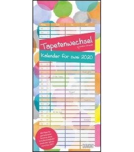 Wall calendar Familien Planer Kal. für zwei 2020 Tapetenwechsel 2020