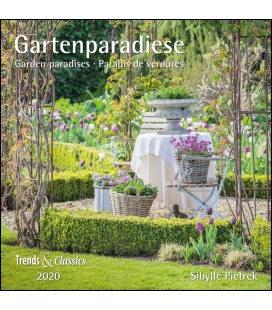 Wall calendar Gartenparadiese T&C  2020
