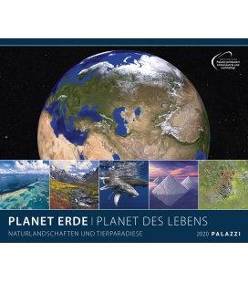 Wandkalender Planet Erde / PLANET DES LEBENS 2020