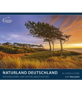 Wandkalender Naturland Deutschland / Nationalparks und Naturlandschaften 2020