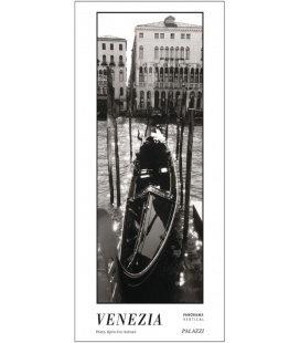 Wandkalender VENEZIA black & white Panorama Zeitlos 2020