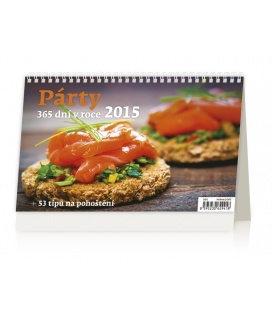 Stolní kalendář Párty 365 dní v roce + 53 tipů na pohoštění 2015