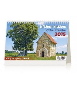 Stolní kalendář Křížem krážem Českou republikou 2015