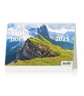Stolní kalendář Výšky hor 2015