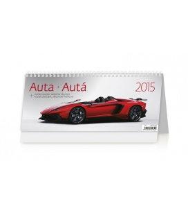 Stolní kalendář Auta/Autá 2015