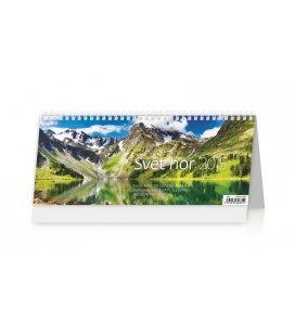 Stolní kalendář Svět hor 2015