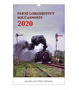 Wall calendar Steam locomotives of today 2020