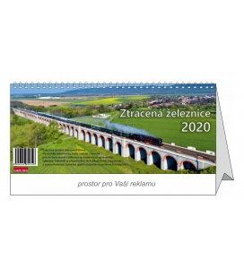 Table calendar Forgotten railroad 2020