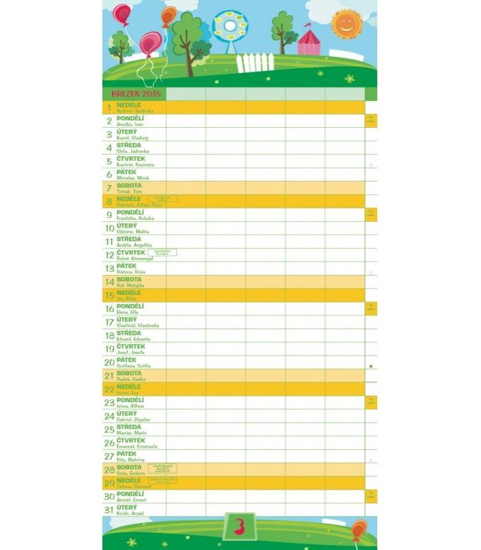 nastenny planovaci kalendar Nástěnný kalendář Rodinný plánovací 2015 nastenny planovaci kalendar