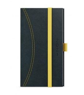 Weekly Pocket Diary - Jakub - Nero black, yellow 2021