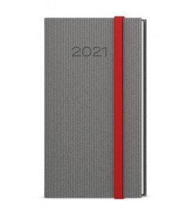 Weekly Pocket Diary - Jakub - vigo grey, red 2021
