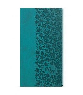 Weekly Pocket Diary - Jakub - vivella s ražbou turquoise - Krajka 2021