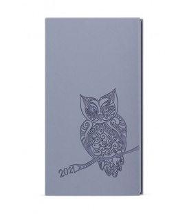 Weekly Pocket Diary - Jakub - vivella s ražbou grey - Sova 2021