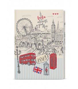 Weekly Diary A5 - Oskar - lamino  - Anglie 2021