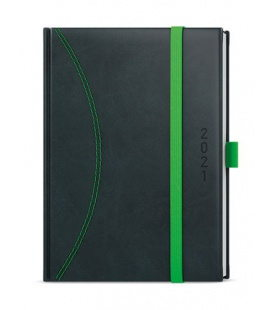 Weekly Diary A5 - Oskar - nero black, green 2021