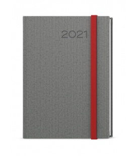 Weekly Diary A5 - Oskar - vigo grey, red 2021