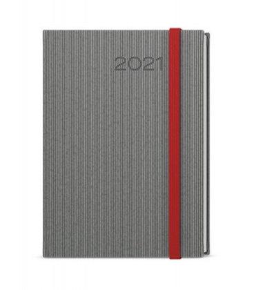 Weekly Diary A5 - Oskar - vigo grey, red 2021