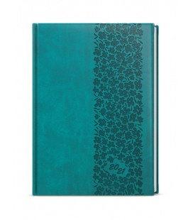 Weekly Diary A5 - Oskar - vivella s ražbou turquoise - Krajka 2021