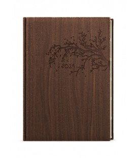 Weekly Diary A5 - Oskar - wood brown 2021