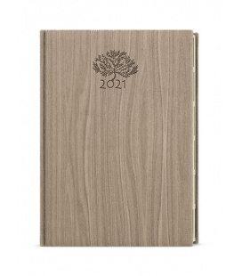Weekly Diary A5 - Oskar - wood light brown 2021