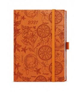 Weekly Diary B6 - Prokop - vivella extra orange - Pomeranč 2021