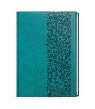 Daily Diary B6 - Adam - vivella s ražbou turquoise - Krajka 2021