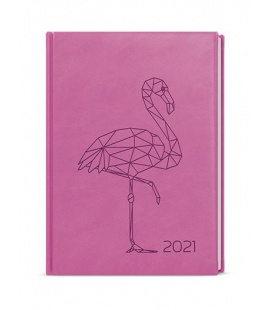 Daily Diary B6 - Adam - vivella s ražbou pink - Plameňák 2021